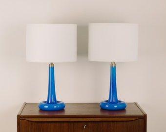 """1 of 2 Michael Bang by Holmegaard Table lamps """"Fleur"""", 1975"""
