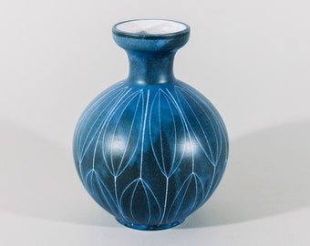 Blue Thoms Vanderst German Ceramic Vase 15/15