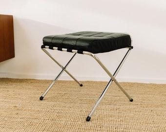 Italian Mid Century Lounge Stool / Chair with Chrome Frame - 1960 - Design