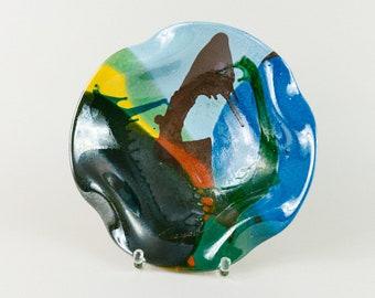 Signed XL Ceramic Bowl Spanish Design 60s 70s Mid Century Fruit Bowl