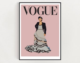 Harry Styles Vogue cover print - High quality finish, Wall art, Home decor