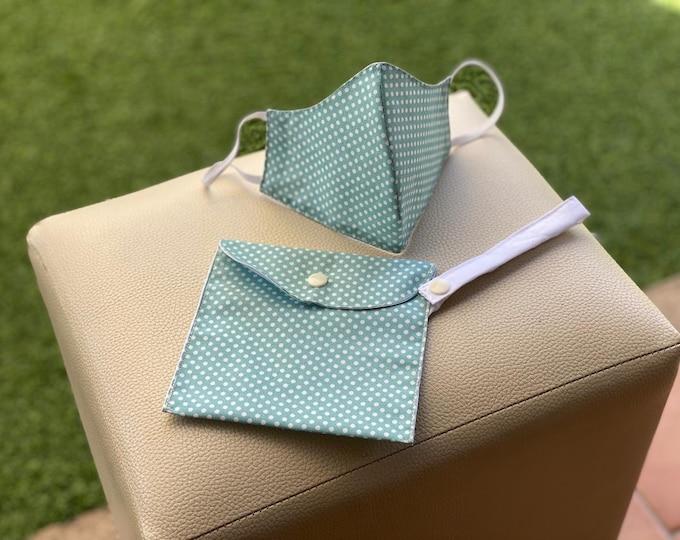 Mask Pack & Bag Transportation / Keeps 100% Cotton Green