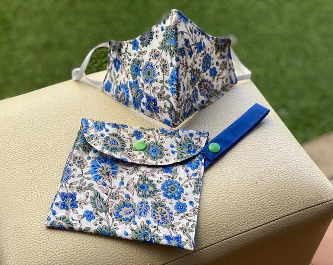 Mask Pack & Bag Transportation / Keeps 100% Cotton Flowers Flower