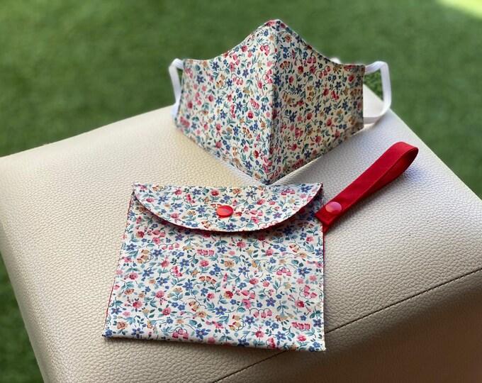 Mask Pack & Bag Transport / Keeps 100% RED Cotton