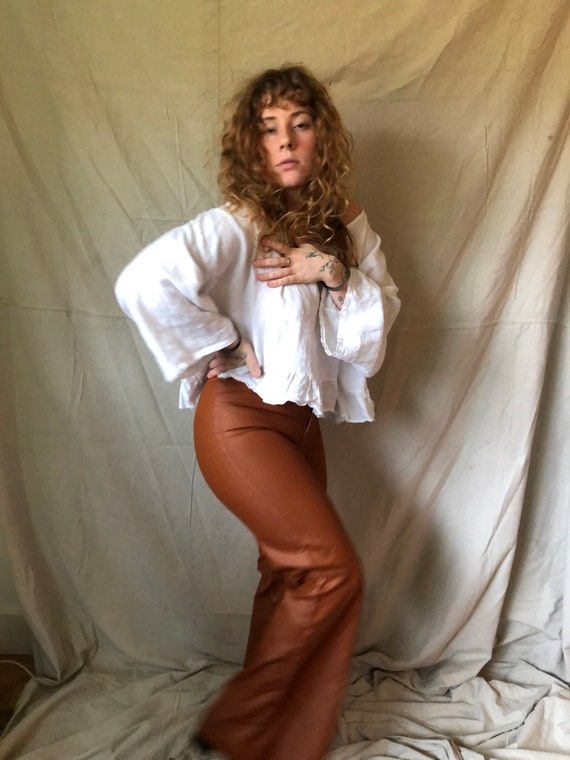 1970's pleather bell bottoms - image 8