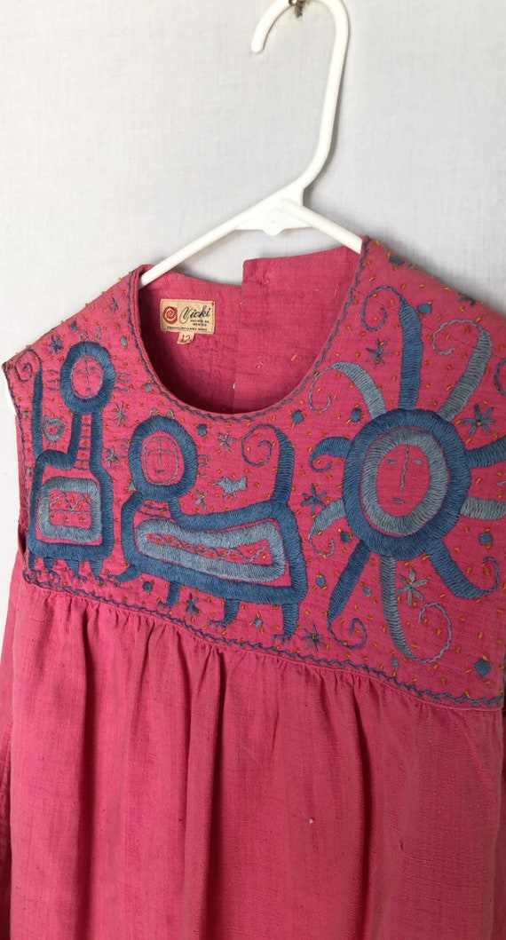 1970's embroidered dress - image 9