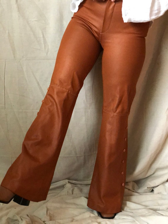 1970's pleather bell bottoms - image 9