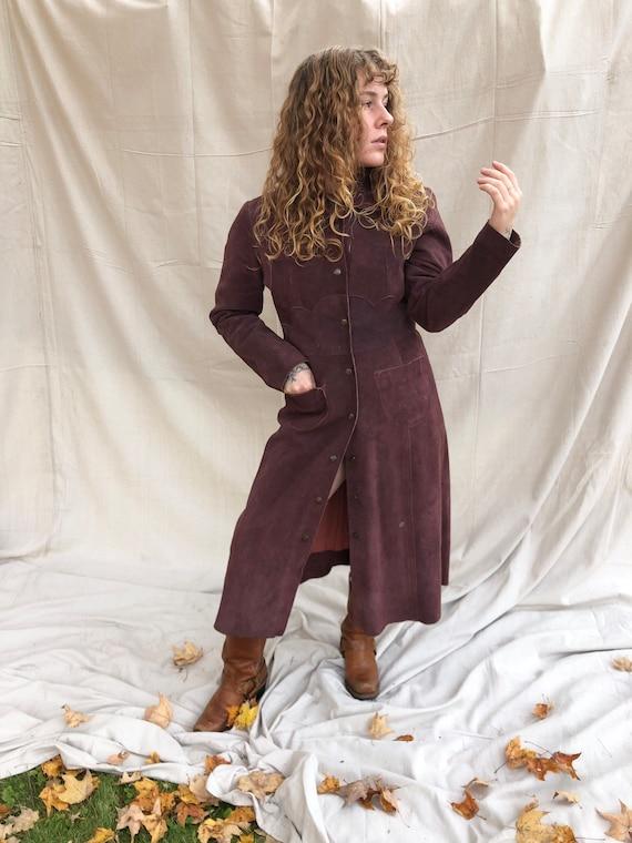 1970's suede coat