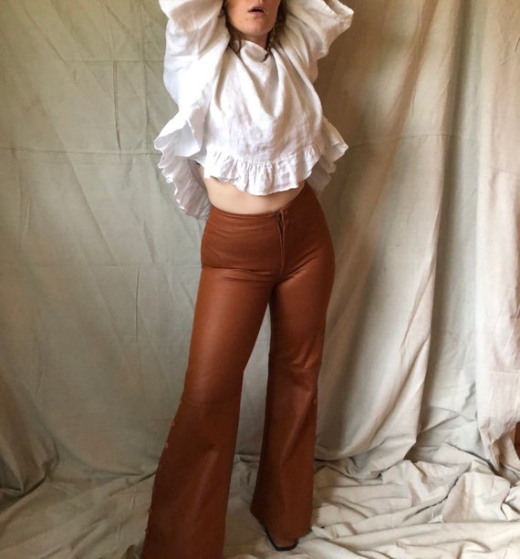 1970's pleather bell bottoms - image 2