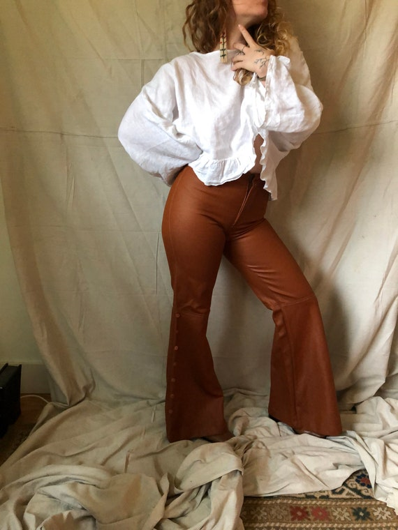 1970's pleather bell bottoms - image 10