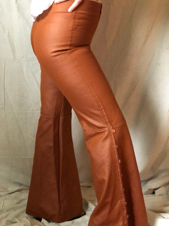 1970's pleather bell bottoms - image 5