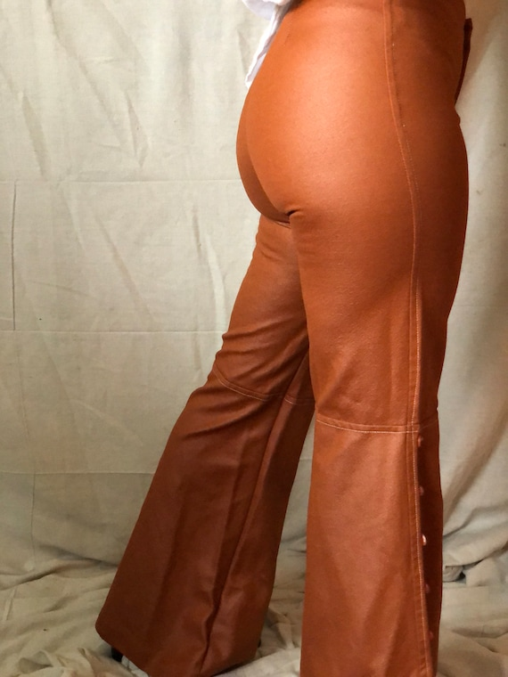 1970's pleather bell bottoms - image 3