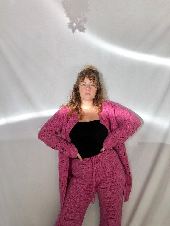 Hot pink wool 2 piece set
