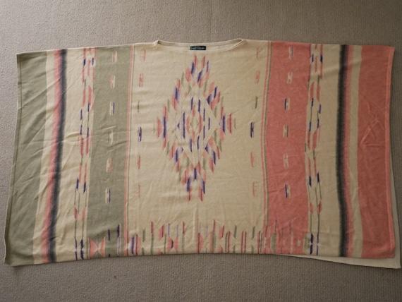 Vintage Ralph Lauren Sweater Tribal Shawl Poncho C
