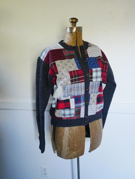 Vintage Ralph Lauren Hand knit Sweater Cardigan Ra