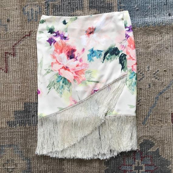 Ralph Lauren Skirt Serape, Wrap Skirt, Floral, Fr… - image 1