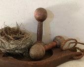 Antique Indian Clubs Juggling Wooden Pins Primitive Farmhouse
