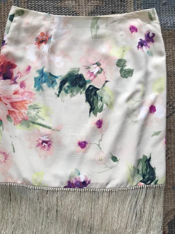 Ralph Lauren Skirt Serape, Wrap Skirt, Floral, Fr… - image 5