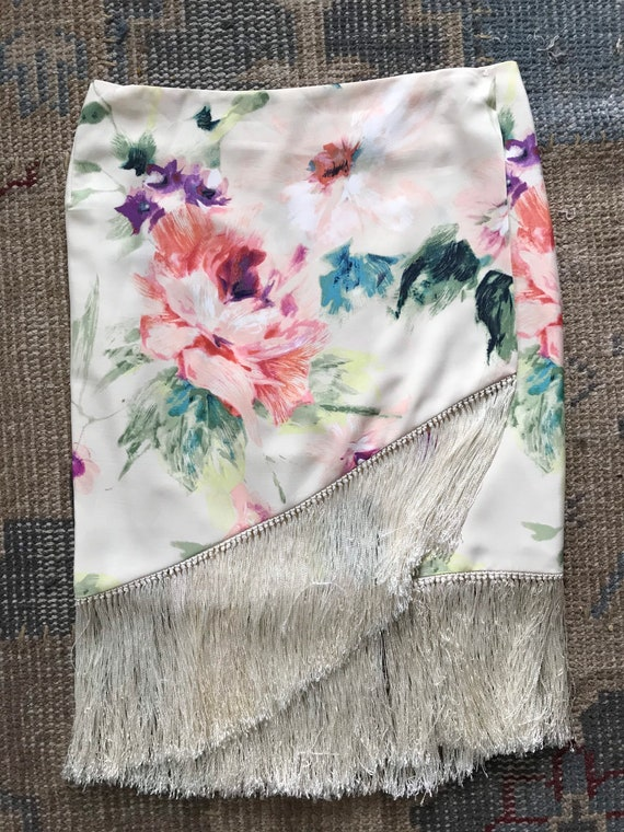 Ralph Lauren Skirt Serape, Wrap Skirt, Floral, Fr… - image 7