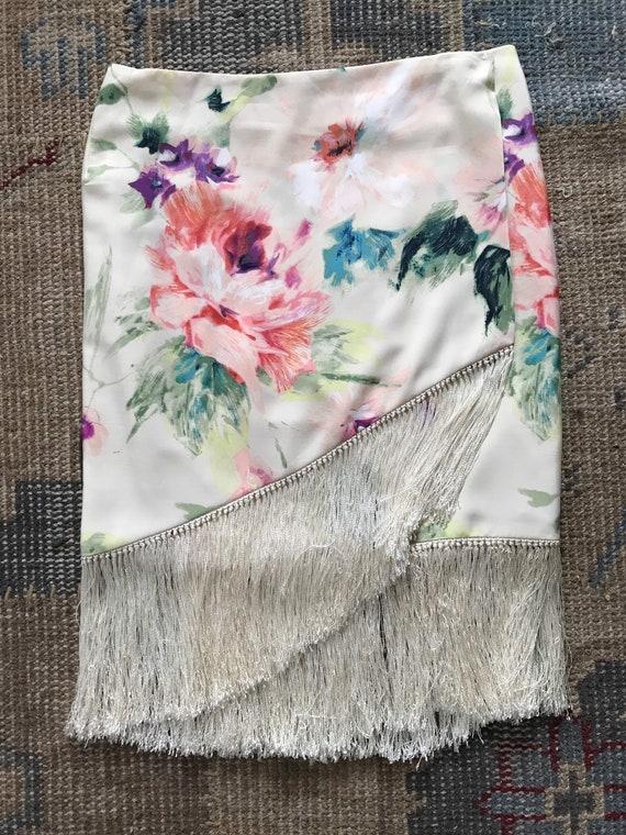 Ralph Lauren Skirt Serape, Wrap Skirt, Floral, Fr… - image 2