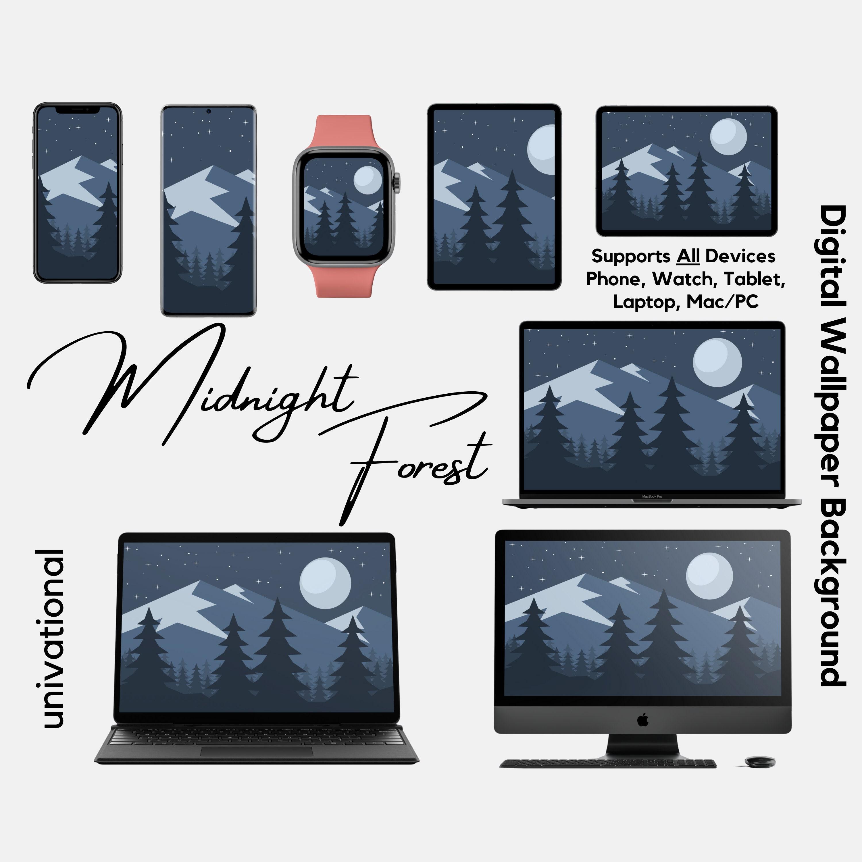 Dark Phone Background, Forest Wallpaper, iPhone Wallpaper, Macbook  Background, iPad Wallpaper, Digital Background, Mac Background