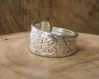 vintage silverware jewelry Unisex Spoon ring antique ring