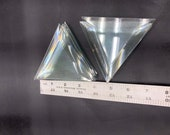 Lot of 10 4 x4 x4 clear triangle bevels