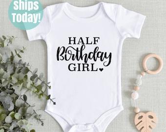 Birthday Baby six months Old Baby Bodysuit Birthday Suit cute baby clothes funny baby clothes big baby #72 6 months Old Baby Clothes