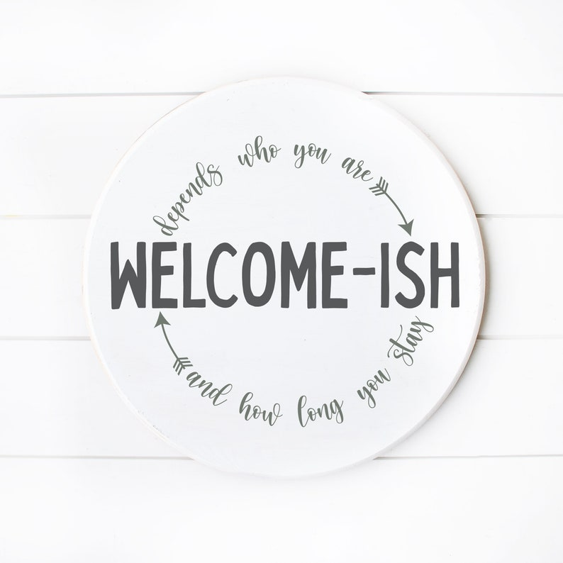 Doormat Porch Welcome-ish Svg Farmhouse Welcome Sign Svg Front Door Decor Funny and Sarcastic Cricut Cut File Digital Download png