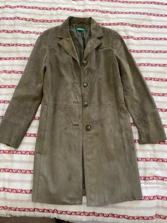 Olive suede duster - image 2