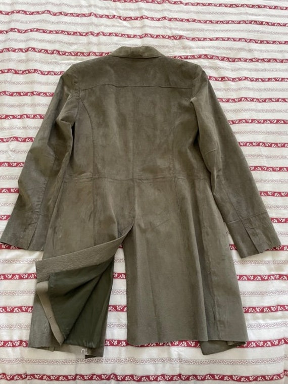 Olive suede duster - image 3