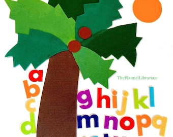 Chicka Chicka Boom Boom Large 24in. x 18in Felt Alphabet Tree for Toddler Preschool Flannel Board/ABCs Teaching/Circle Time Activity