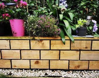 wooden brick wall cladding