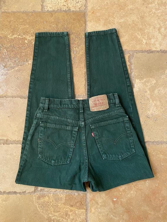 1980s Green Levis 550 27/28W