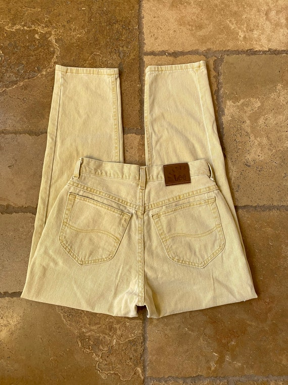 Lee Yellow High Waisted Jeans 27/28W