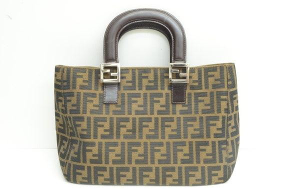 Authentic Fendi Zucca Handbag Top Handle Monogram