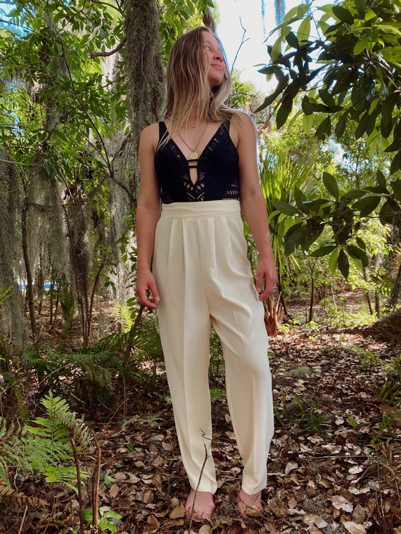 Vintage Ivory Trousers
