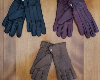 Women's Leather Gloves, Slim Leather Gloves, Thin Fashion Gloves, Autumn and Winter Leather Gloves, Gift for Her, Gift for Mom