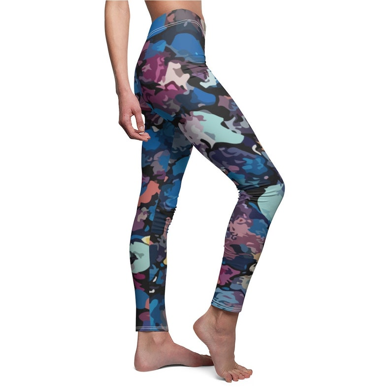 Yoga Leggings Women/'s Cut Sew Casual Skinny fit Leggings Super Soft Colorful Printed with Artistic Abstract Art Patterns