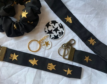 Handmade Hamilton - Musical Theatre Inspired Scrunchies, Lanyards, and Key Fobs/Wristlets - Gift ideas|Present|Party Favours