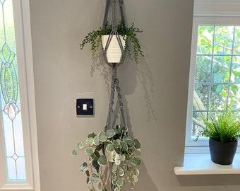 Macrame Double hanging plant holder