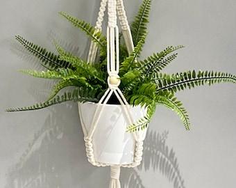 Macrame Bead Plant Hanger