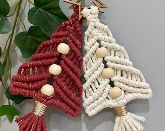 Macrame Mini Hanging Christmas Trees