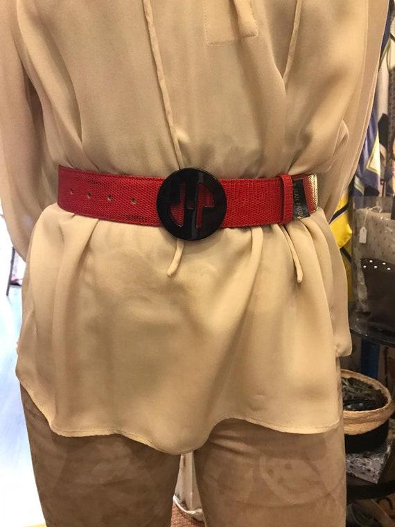 Jean Patou red belt
