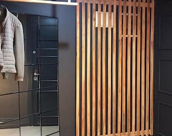 Slat Wall Panels |Planks Garden Loft Decor |Vertical Panels Narrow Optional Wooden Slats Type Wall Decor Decorative Planks by Plania