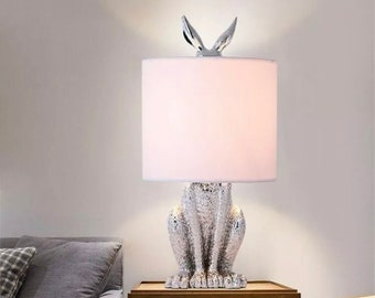 WHITE Peter Rabbit Drum Lampshade