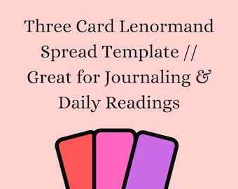 15 Three-Card Spreads Healing Decisions Goals Tarot GrimoireJournal Page Relationships Growth Career Oracle Wellness