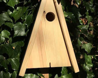 Nestbox birdhouse triangle for cave breeders - e.g. great / blue