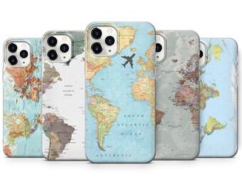 World map phone case | Etsy