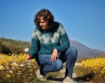 PDF-file for crochet PATTERN, Summit Sweater Pattern, instant download